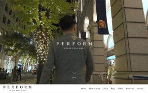 神戸のオーダースーツPerform/Five one 神戸|ウェブサイト制作